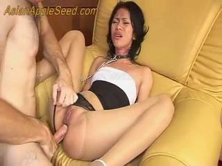 Thai chick fucked hard and cry ANAL