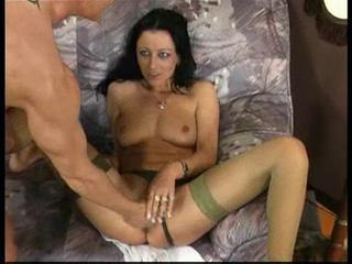 German hot pissing games on a sofa