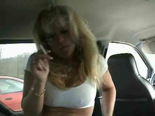 Amateur Car Mature Smoking