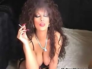 Classic Busty Cougar Smoking And Toying mature mature porn granny old cumshots cumshot