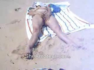 Amateur Beach Masturbating Nudist Outdoor Wife
