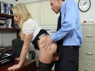 Blonde secretary Mia Malkova gets ass licked by her boss