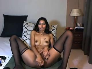 Indian Masturbating  Stockings