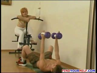 Mature Mom Old and Young Russian Sport