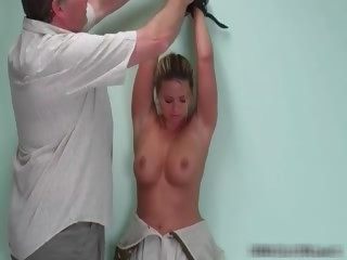 Busty babe gets a good spanking