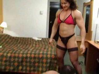 Mixed wrestling with female bodybuilder alina popa