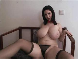 Babe Big Tits Chubby Cute Natural Panty Solo Stockings