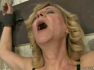 Cindy Hope fucks submissive granny