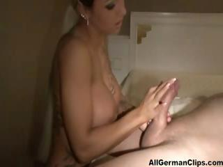 Amateur Big Tits European German Handjob
