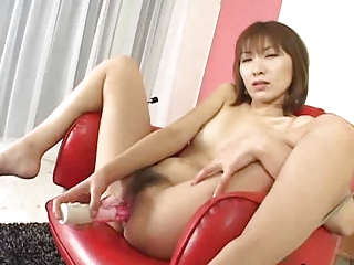Asian Hairy Japanese Masturbating Toy