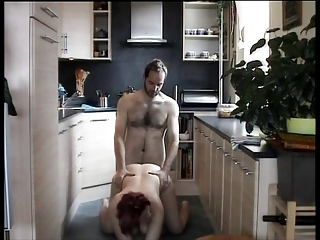 Amateur Doggystyle Homemade Kitchen Wife
