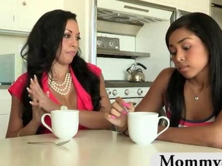 Ebony Interracial Kitchen Lesbian  Teen