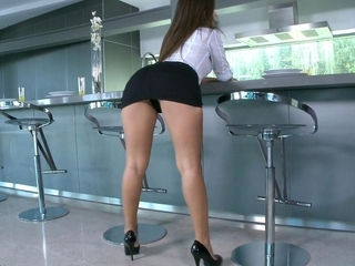 Amazing Ass Latina Legs Pornstar Skirt