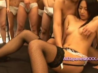 Rika Asao Asian doll in bukkake