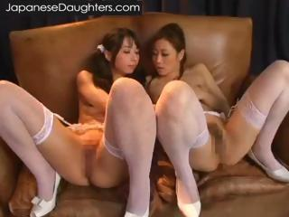 Asian Japanese Lesbian Stockings Teen