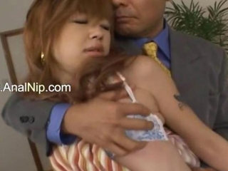 Sleeping japanese beauty anal penetrated