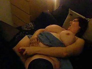Big Tits Masturbating  Natural Stockings Toy