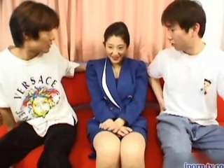 Asian Japanese  Old and Young Threesome Wife