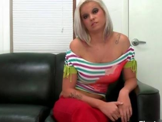 Hot blonde with chubby jugs gets fucked