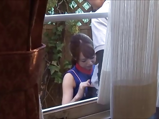 Asian Blowjob Outdoor Voyeur