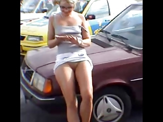 Car Outdoor Teen Upskirt