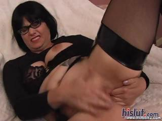 Glasses Masturbating Mature Solo