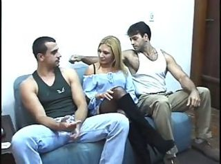 Brazilian Latina  Threesome