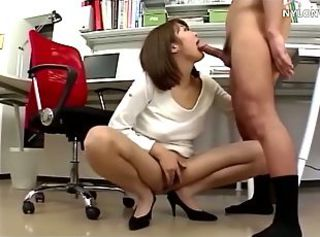 Asian  Blowjob Office Pantyhose Secretary