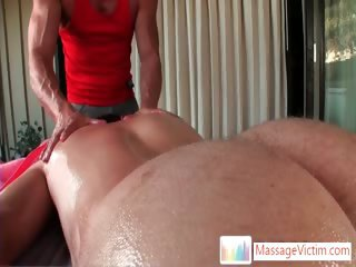 Dayton gets anus oiled for massage 3