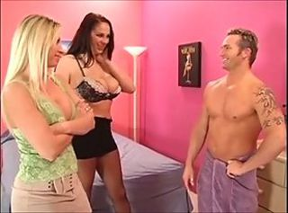 Amazing Big Tits Lingerie  Pornstar Threesome