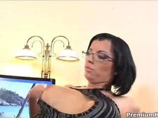 Ass fucked secreatary Renata Black