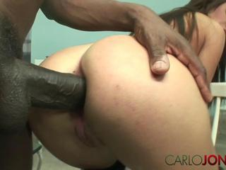 CarloJones Hot babe has pussy and ass stretched by big black cock