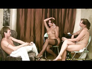 Amateur  Russian Stockings Threesome