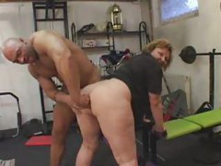 Chubby mature fingered in the gym tubes