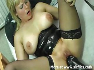 Dildo Latex Mature Stockings