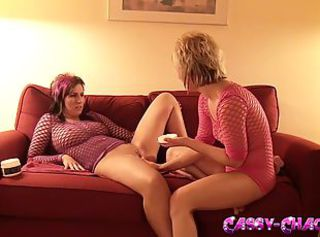 Fishnet First Time Lesbian