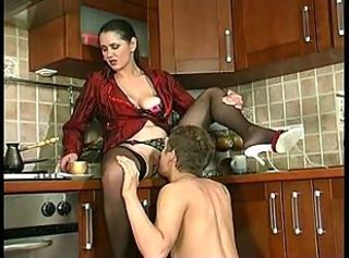 Kitchen Licking  Stockings