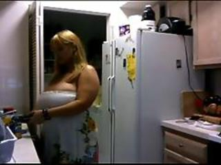 Amateur  Big Tits Homemade Kitchen  Natural