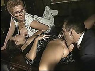 Big Tits Clothed Glasses Licking  Threesome Vintage