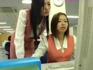 Asian Cute Japanese Lesbian Office Secretary Teen Uniform