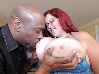 Big Tits Glasses Interracial  Natural Nipples Redhead