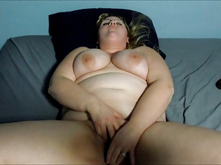 BBW Wife Brandy Jo - Pregnant Cucumber Play & Facial