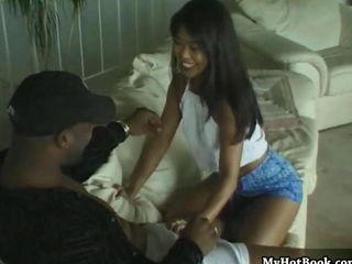 Amazing Asian Interracial Teen