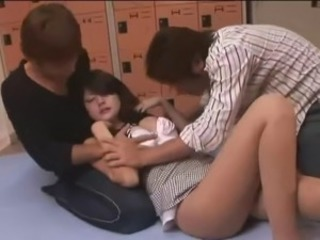 Asian Pantyhose Teen Threesome