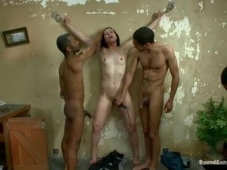 Hardcore Interracial Skinny Slave Teen Threesome Toy