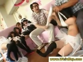 Asian Groupsex Maid Orgy