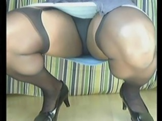 Mature Panty Stockings Upskirt
