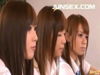 Asian Japanese School Teen Threesome