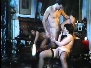 Blowjob Stockings Threesome Vintage