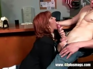 Unsatisfied mature enjoys young dick